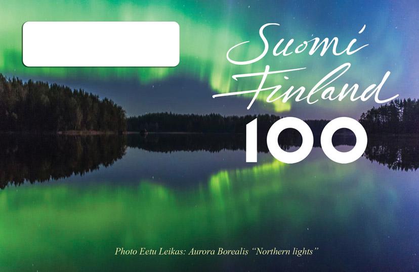 Suomen 100 vuotis QSL-kortti malli 5